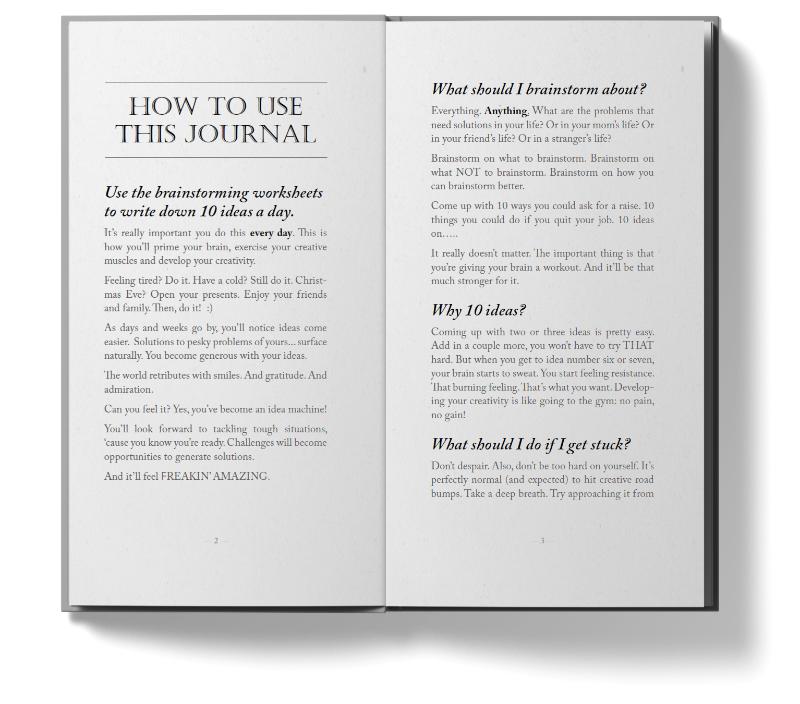 10ideas Creativity Journal